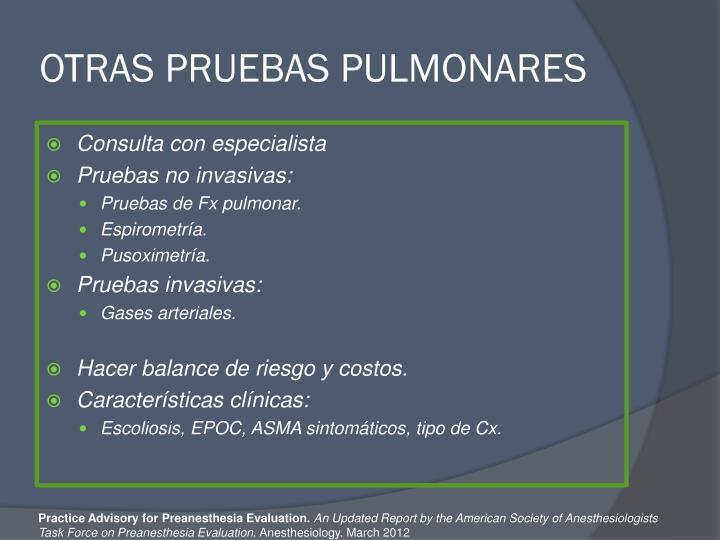OTRAS PRUEBAS PULMONARES