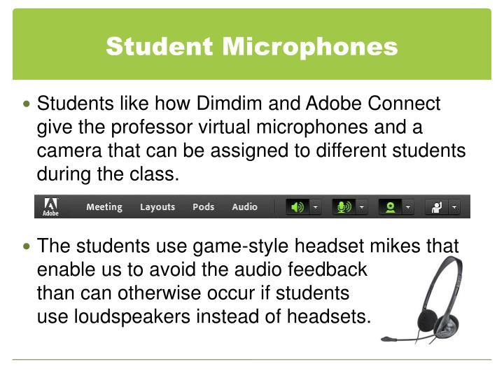 Student Microphones