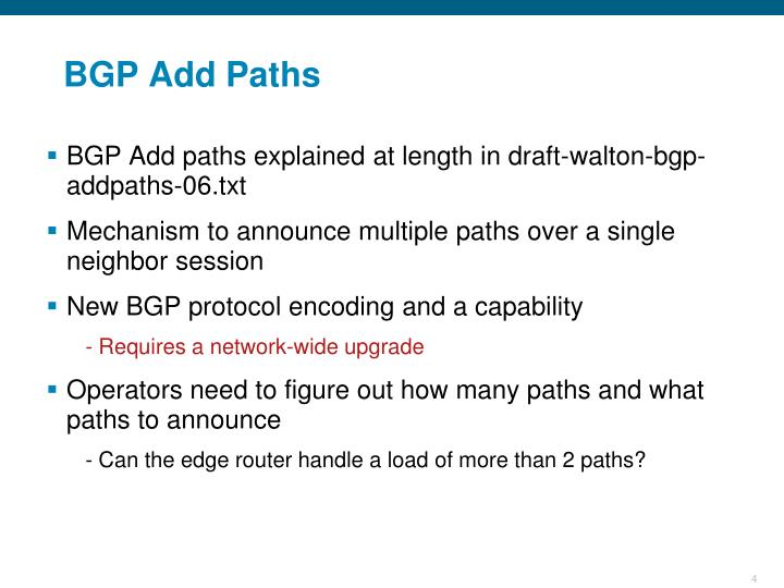 BGP Add Paths