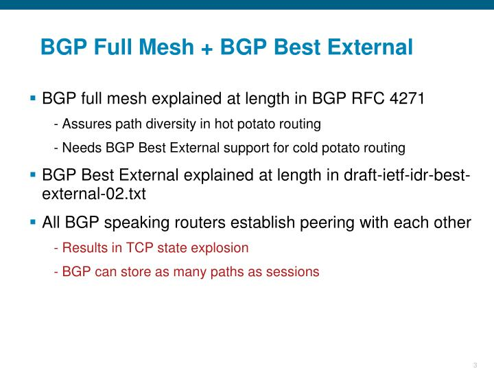 Bgp full mesh bgp best external