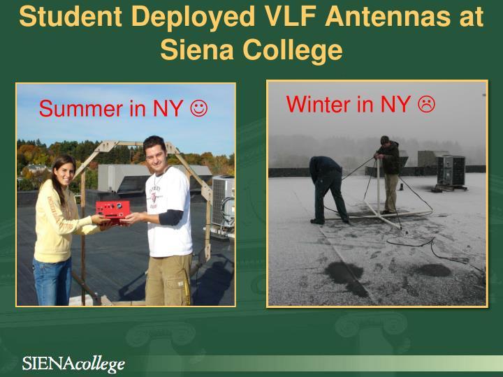 Student Deployed VLF Antennas at