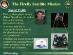 the firefly satellite mission