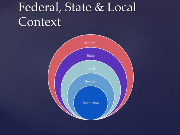 Federal, State & Local Context