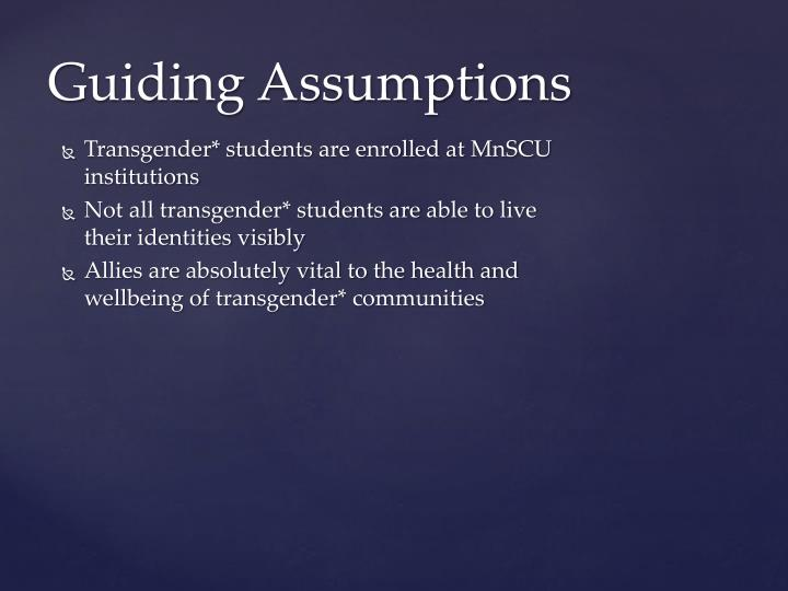 Transgender* students