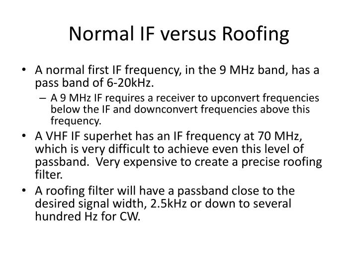 Normal IF versus Roofing