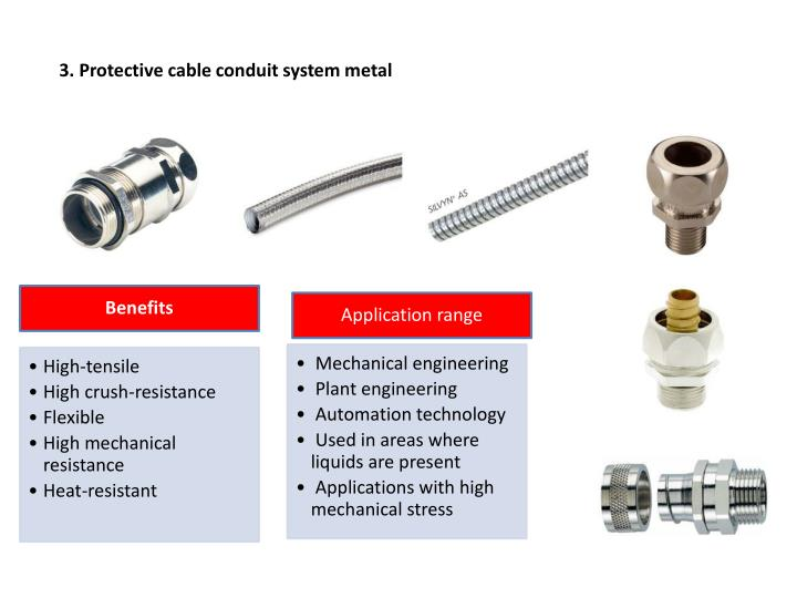 3. Protective cable conduit system metal