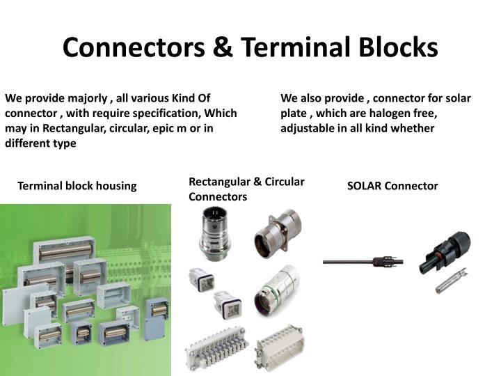 Connectors & Terminal Blocks