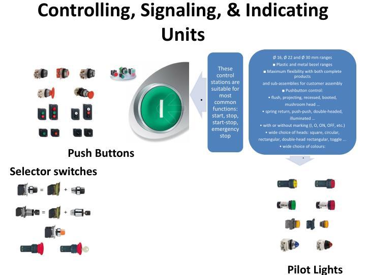 Controlling, Signaling, & Indicating Units