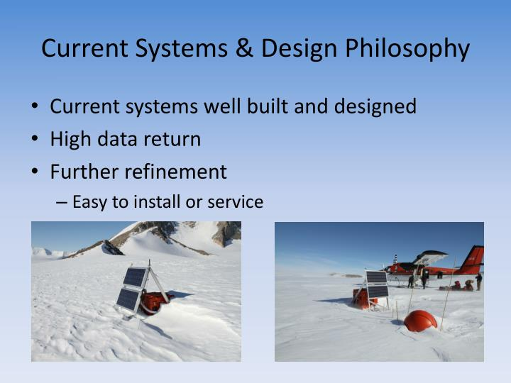 Current Systems & Design Philosophy