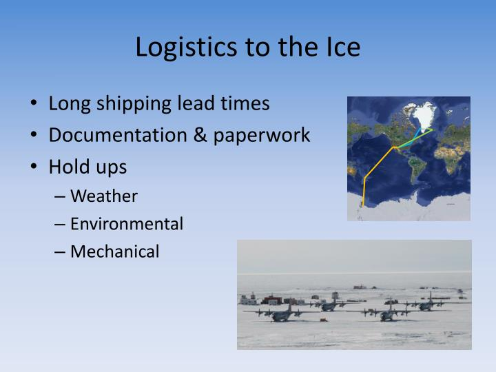 Logistics to the Ice