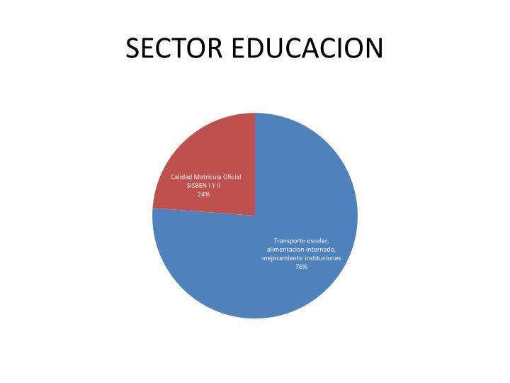 SECTOR EDUCACION