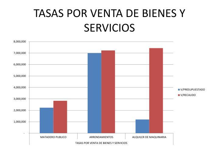 TASAS POR VENTA DE BIENES Y SERVICIOS