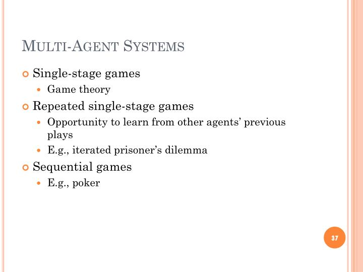 Multi-Agent Systems