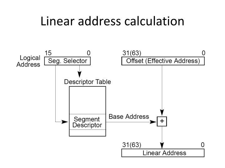 Linear address calculation
