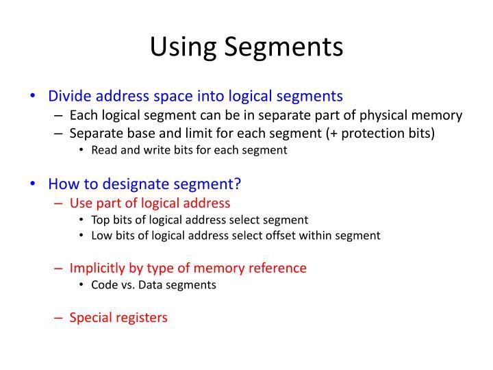 Using Segments