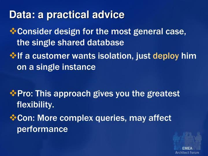 Data: a practical advice