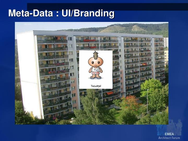 Meta-Data : UI/Branding