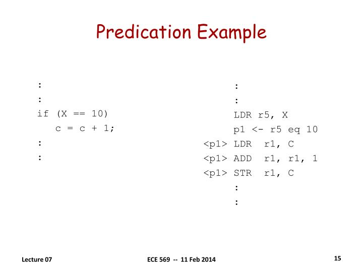 Predication Example