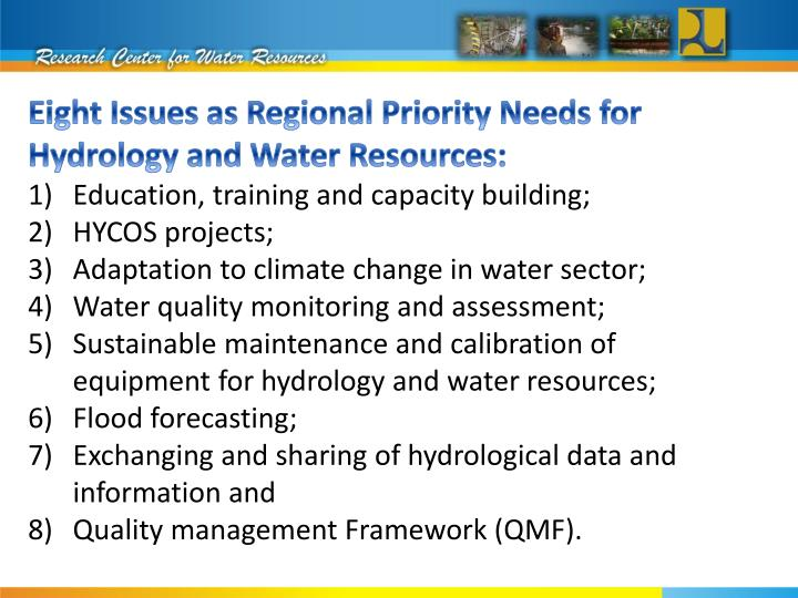 Working group on hydrology ra v