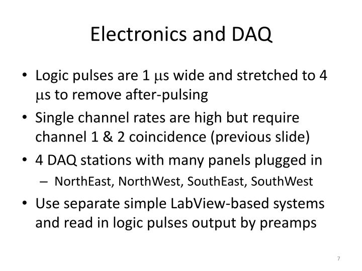 Electronics and DAQ