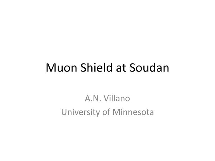 muon shield at soudan