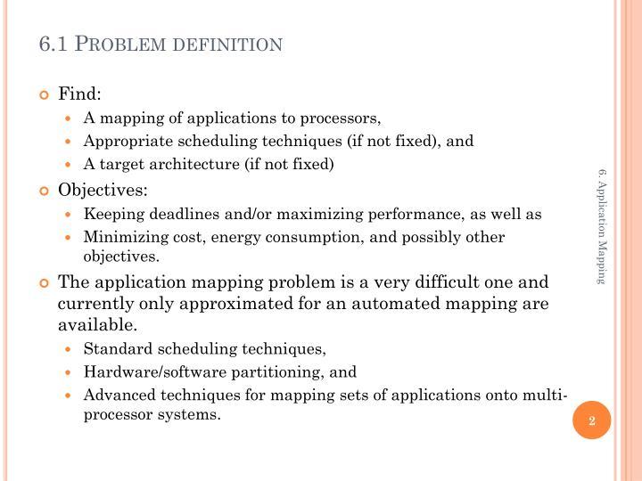 6.1 Problem definition