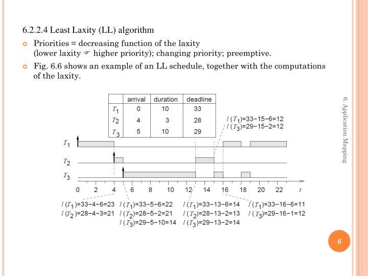 6.2.2.4 Least Laxity (LL) algorithm