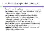 the new strategic plan 2012 142