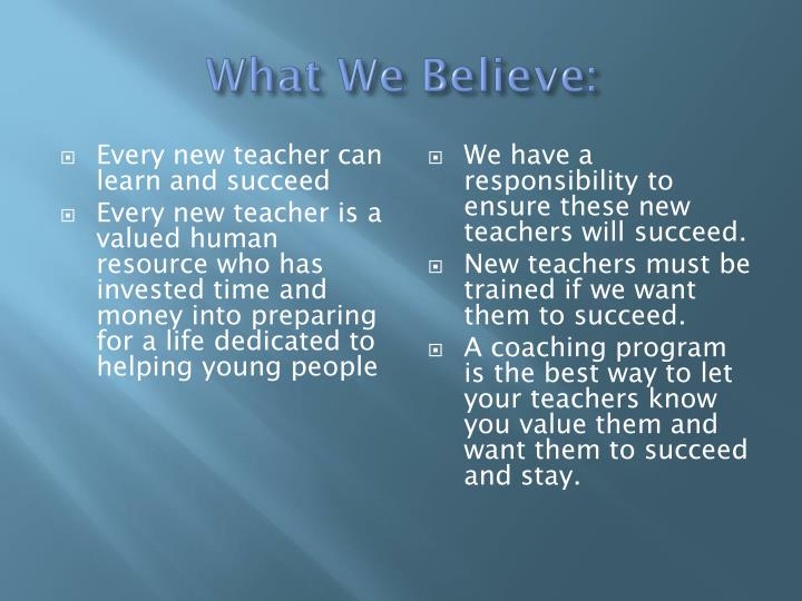 Every new teacher can learn and succeed