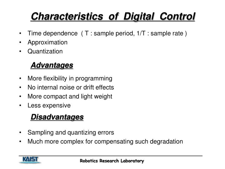 Characteristics  of  Digital  Control