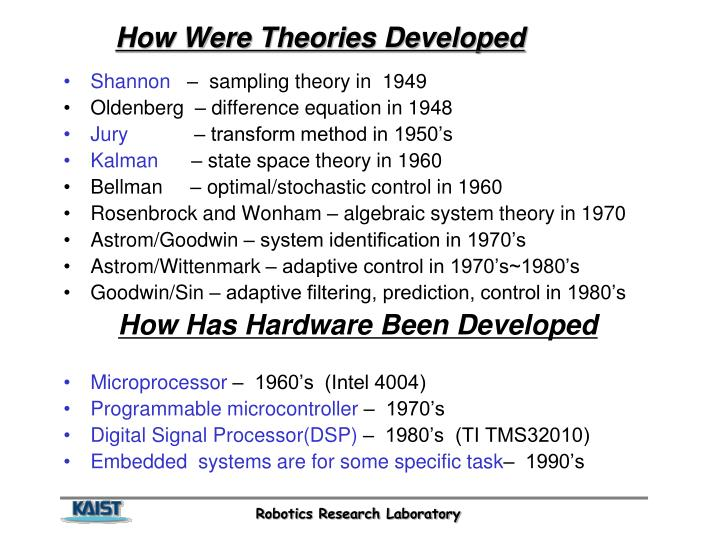 How Were Theories Developed