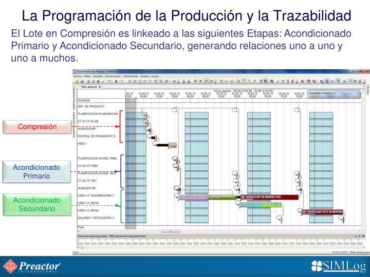 La Programación de la Producción y la Trazabilidad