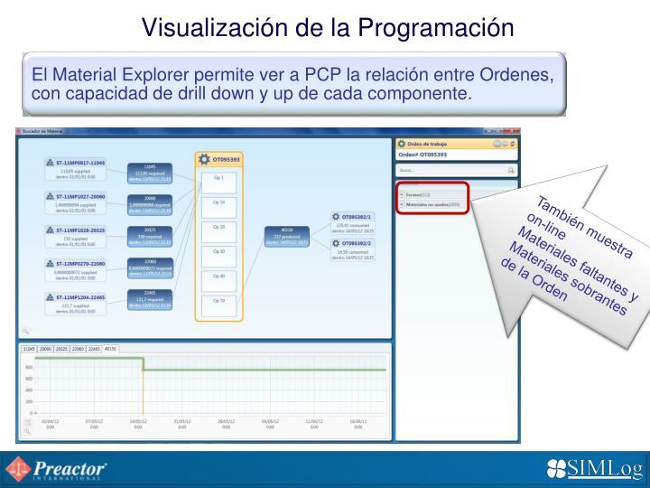 Visualización de la Programación