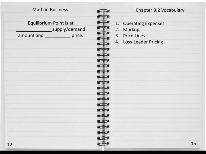 Math in Business