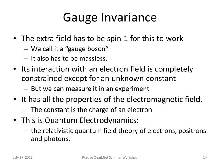 Gauge Invariance