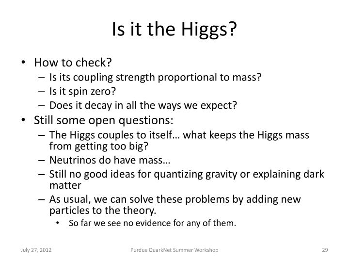 Is it the Higgs?