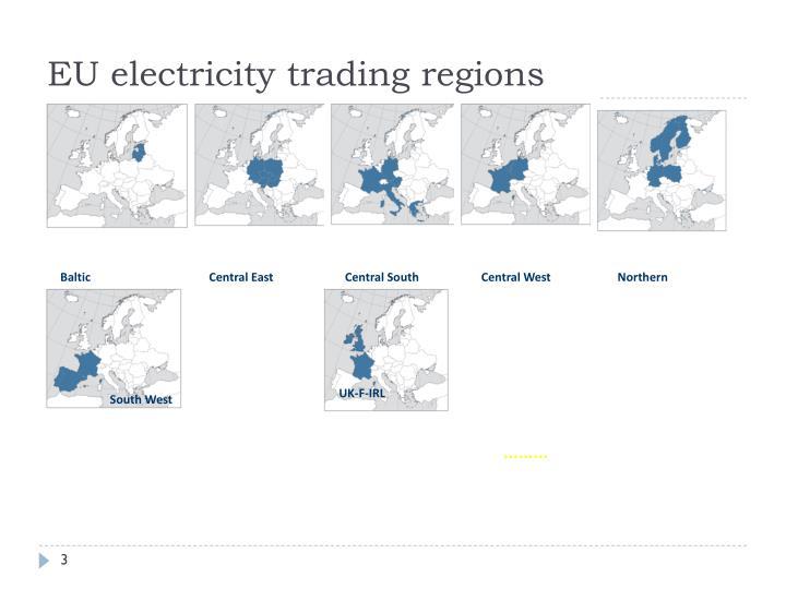 EU electricity trading regions