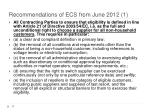 recommendations of ecs from june 2012 1