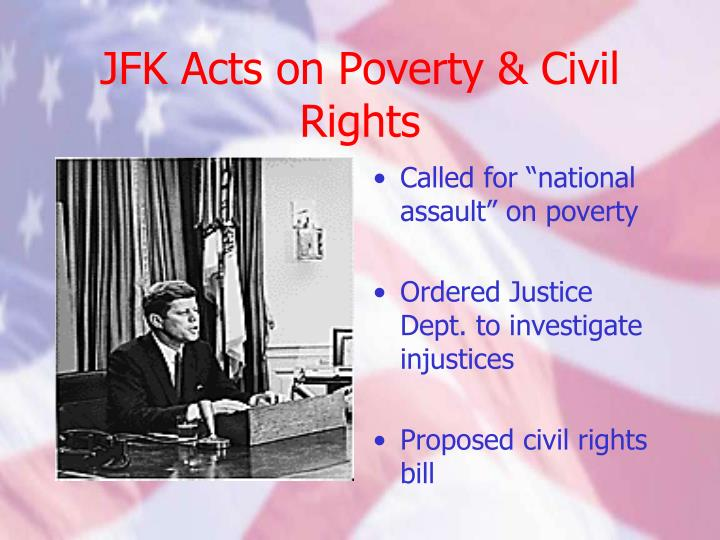 JFK Acts on Poverty & Civil Rights