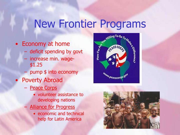 New Frontier Programs