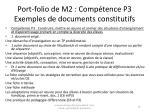 port folio de m2 comp tence p3 exemples de documents constitutifs