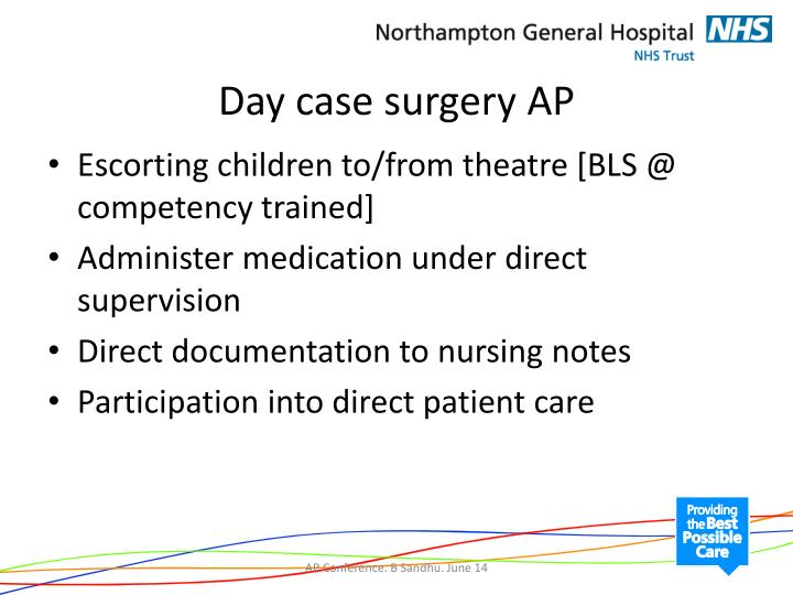 Day case surgery AP