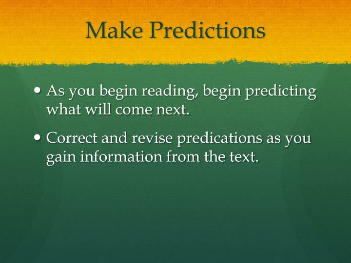 Make Predictions