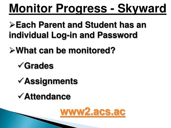 Monitor Progress - Skyward