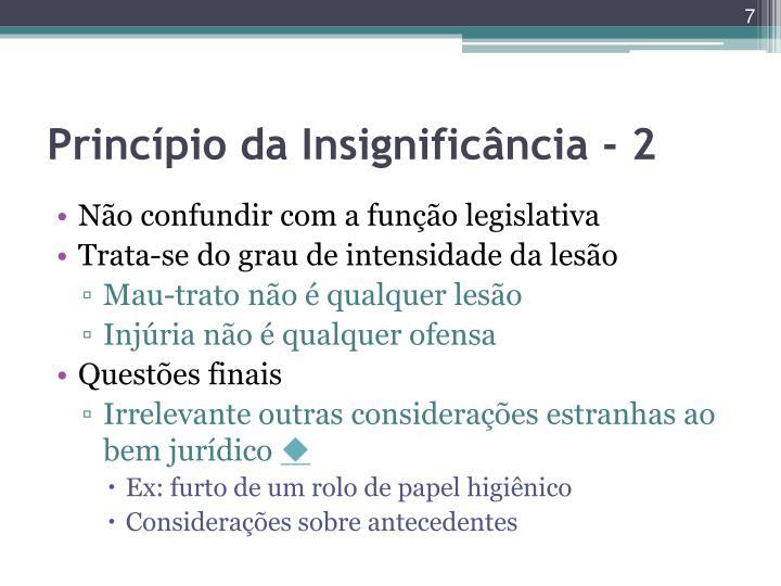 Princípio da Insignificância - 2