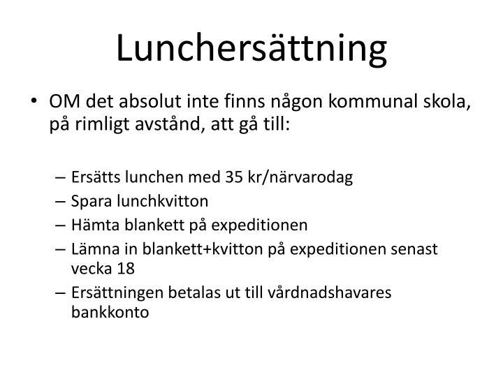 Lunchersättning