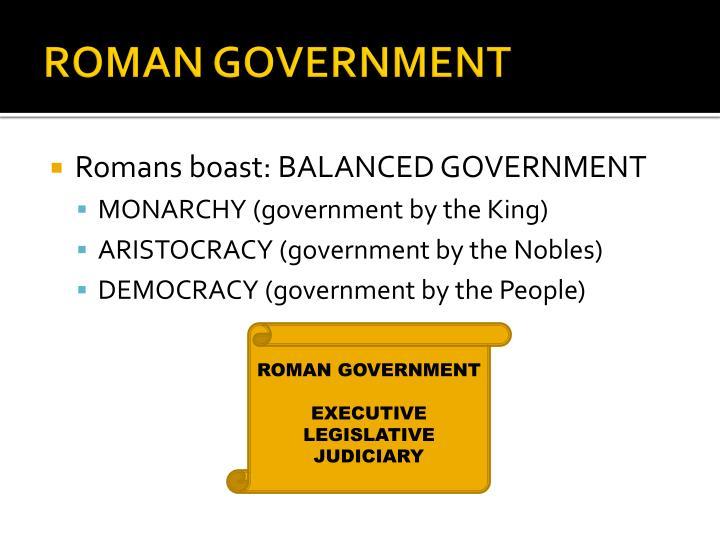 ROMAN GOVERNMENT