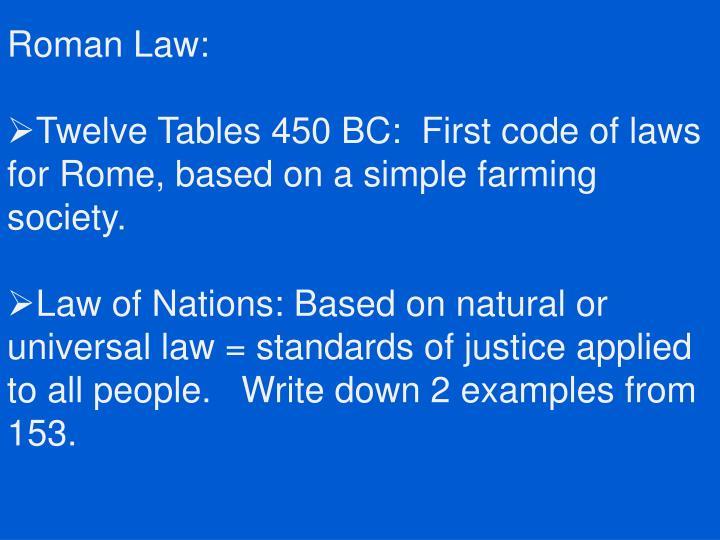 Roman Law: