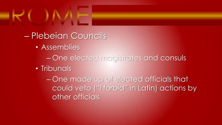 Plebeian Councils