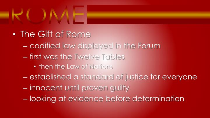 The Gift of Rome